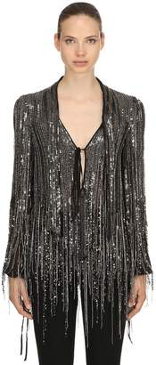 Amen Fringe Sequined Blouse