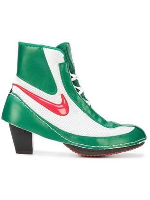 Nike X Comme de Garçons block heel boots
