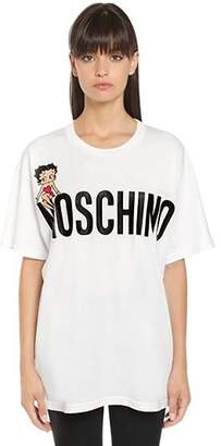 Oversized Betty Boop Jersey T-Shirt