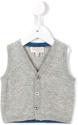 Cashmirino knitted buttoned vest