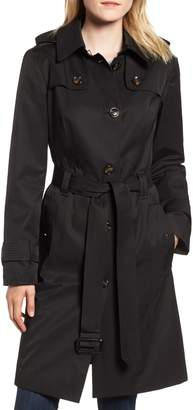 London Fog Knee Length Trench Coat
