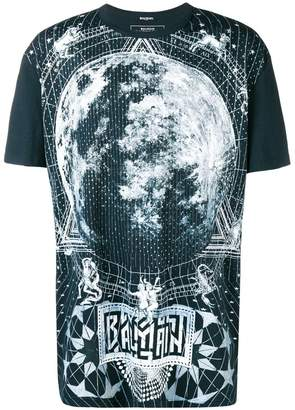 Balmain zodiac print T-shirt