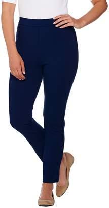 Shape Fx Petite Ponte Knit Pull-On Ankle Pants