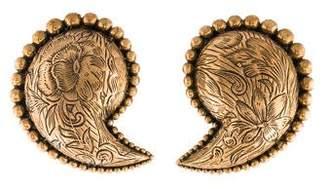 Stephen Dweck Paisley Motif Clip-On Earrings