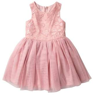 Pippa & Julie Embroidered Flower Tutu Dress (Toddler & Little Girls)