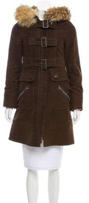 Marc by Marc Jacobs Fur Trimmed Coat