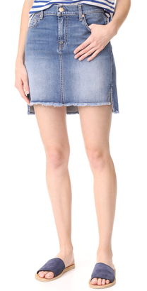 7 For All Mankind Skirt with Step Hem $179 thestylecure.com