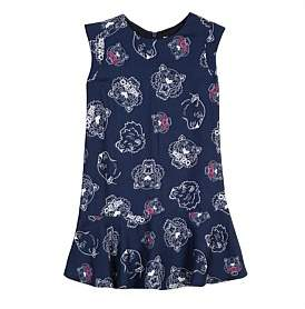 Kenzo Girls Tiger Yardage Dress Navy