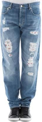 Alexander McQueen Light Blue Cotton Jeans