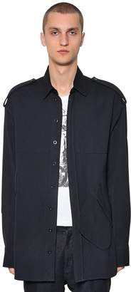Ann Demeulemeester Wool & Canvas Blend Shirt Jacket