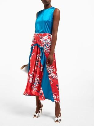 Roksanda Zelma Floral Print Silk Skirt - Womens - Pink Print