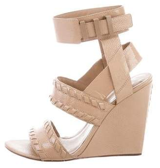 Alexander Wang Patent Leather Round-Toe Sandals