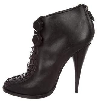 Givenchy Lace-Up Leather Booties