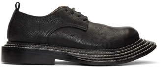 Comme des Garcons Black Shrunken Leather Derbys