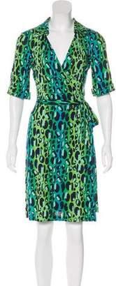 Diane von Furstenberg Animal Print Silk Mini Dress
