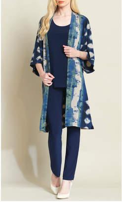 Clara Sunwoo Diamond denim soft knit duster