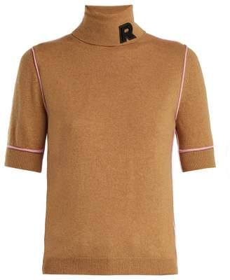 Rochas Logo-appliqué cashmere turtleneck