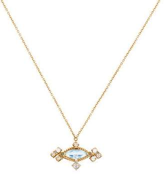 Anthony Nak 18K Topaz & Diamond Pendant Necklace