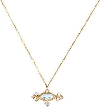 Anthony Nak 18K Topaz & Diamond Pendant Necklace