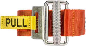 Heron Preston Embroidered Belt in Orange & Yellow   FWRD