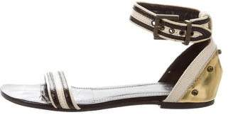 Proenza Schouler Striped Ankle Strap Sandals