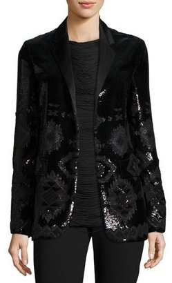 Ralph Lauren Collection Tess Geometric-Beaded Tuxedo Jacket, Black $5,990 thestylecure.com
