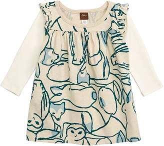 Tea Collection Arctic Animals Print Layered Dress