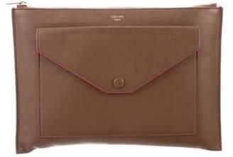 Celine Envelope Zip Clutch