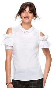 Women's ELLETM Ruffle Cold-Shoulder Top $44 thestylecure.com