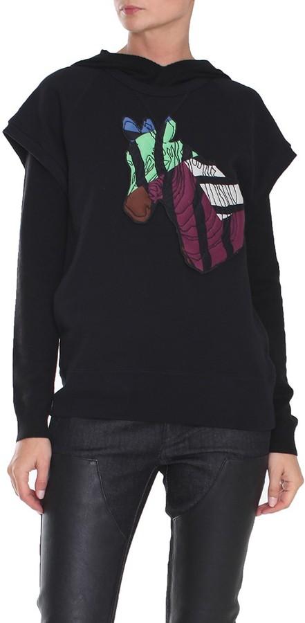 Tibi Zebra Maze Sweatshirt