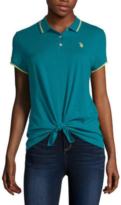 U.S. Polo Assn. Womens Short Sleeve Polo Shirt Juniors