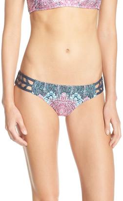 Lucky Brand Midnight Paisley Lattice Reversible Hipster Bikini Bottoms $58 thestylecure.com