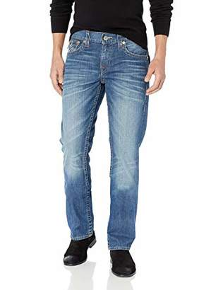 True Religion Men's Straight Leg Jean with Flap Back Pockets