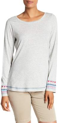Tommy Bahama Embroidered Boat Neck Long Sleeve Shirt