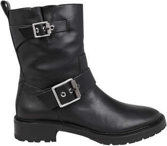 Rag & Bone Cannon Black Moto Boots