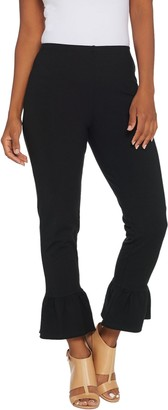 Women With Control Women with Control Regular Ankle Pants w/ Ruffle Bottom
