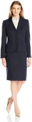 Le Suit Women's Three Button Skirt Suit