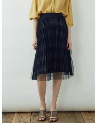 LAGUNAMOON (ラグナムーン) - LAGUNAMOON プリーツチュールレイヤードスカート
