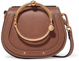 Chloé Nile Bracelet Small Textured-leather And Suede Shoulder Bag - Light  brown 9d8e4a1492b87