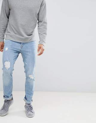 Jack and Jones Slim Fit Jeans With Distressing