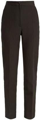 Dolce & Gabbana High-rise cotton-blend cloqué trousers