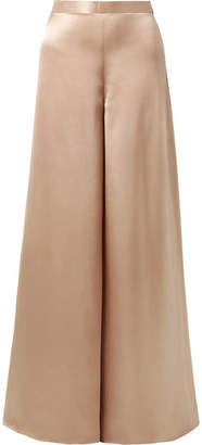CAMI NYC The Tommy Silk-charmeuse Wide-leg Pants - Neutral