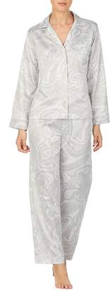 Lauren Ralph Lauren 2-Piece Striped Satin Pyjama Set