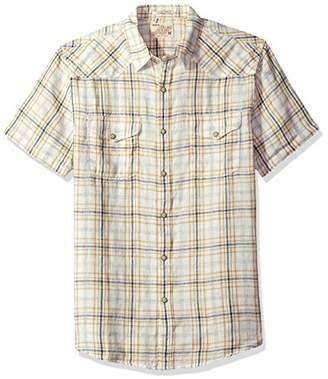 Lucky Brand Men's Santa Fe Woven Western Shirt