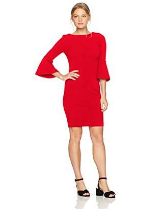 c85f50461c56f Calvin Klein Women s Petite 3 4 Peplum Sleeve Sheath Dress