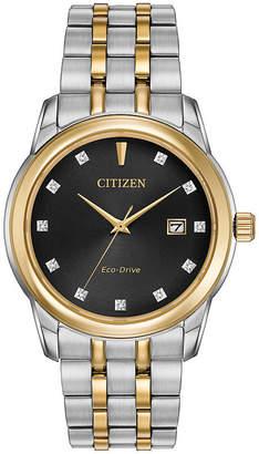 Citizen Eco-Drive Men's Two Tone Watch With Diamond Accents Bm7344-54E