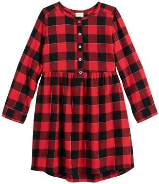 Girls 4-12 Jumping Beans Henley Flannel Dress