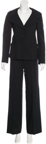 ValentinoValentino Wool Wide-Leg Pantsuit