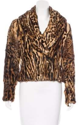 Ralph Lauren Double-Breasted Fur Jacket