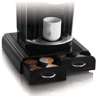 Mind Reader Vue/Tassimo/Vertuoline K-Cup Single Serve Coffee Pod Double Drawer Storage Organizer, Black